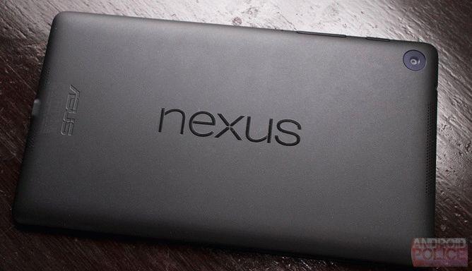 Nexus 7 back logo