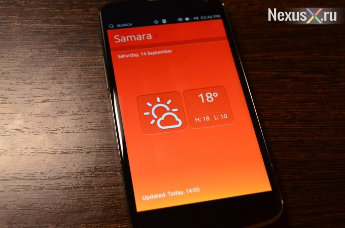 Ubuntu Touch Weather app