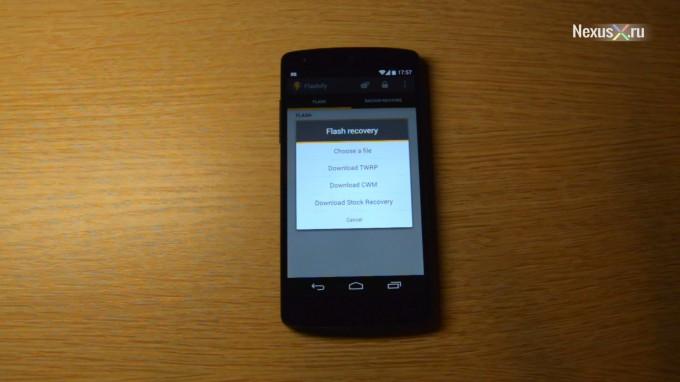 Nexus 4 Custom Recovery